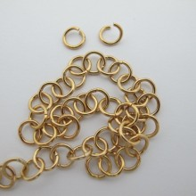 Stainless steel open rings 1.2x8mm