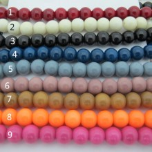 42cm Glass beads round smooth 4mm/6mm/8mm