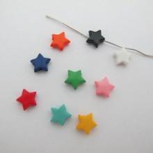 500g Plastic beads star 9mm