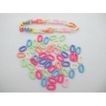 83 gm perles en plastique 15x10mm
