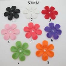 20 pcs Perles plastiques fleur 53mm