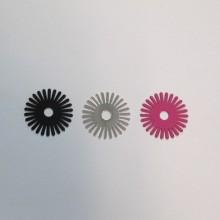 50 tampons ronds de 18 mm découpés au laser