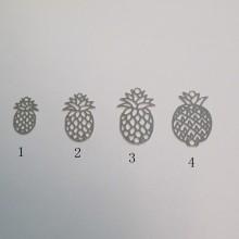 50 Estampe ananas découpée au laser 15x10mm/20x12mm/23x14mm/23x15mm