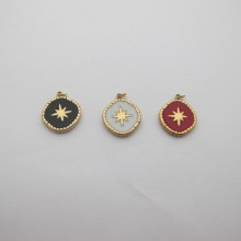 10 pcs stainless steel star pendant