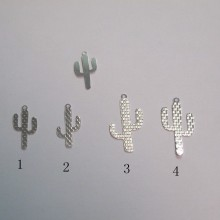 100 Estampe cactus laser cut 18x9mm/25x13mm