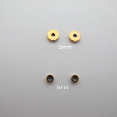 Perles rondelles en acier inoxydable