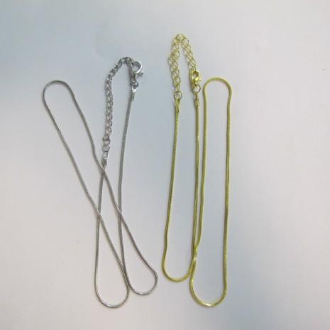 20 chainettes serpentine fantaisie metal 50cm