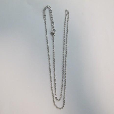 20 chainettes forçat fantaisie metal 50cm