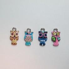 30 Metal Owl Charms 18x10mm