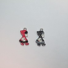 30 Metal charms little girl 21x12mm