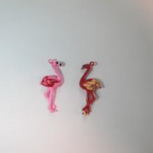 30 Breloques Métal Flamingo 15x10mm