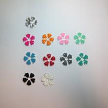 30 Flower Stamp Metal 20mm