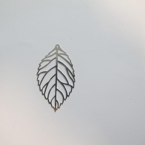 20 Estampes feuilles laser cut 45x25mm