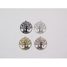 20 Stamp Tree of life with cat laser cut 31 mm