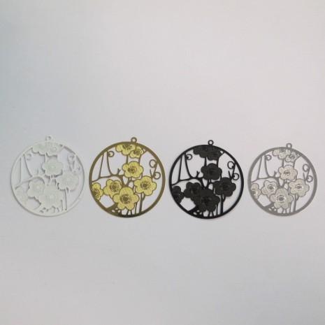 20 Estampes fleurs laser cut 36mm