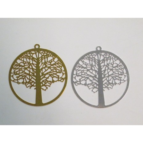 20 Estampe Arbre de vie laser cut 40mm