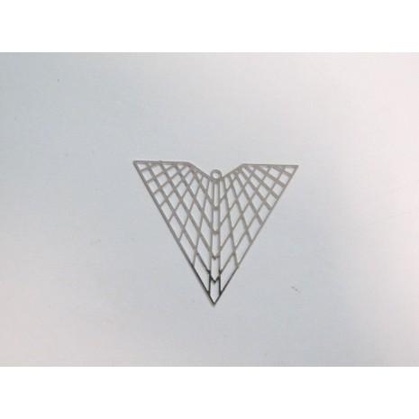 50 Estampe triangle laser cut 41x35mm