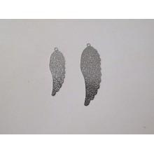 50 Angel wings laser cut stamp 37x12mm/29x10mm