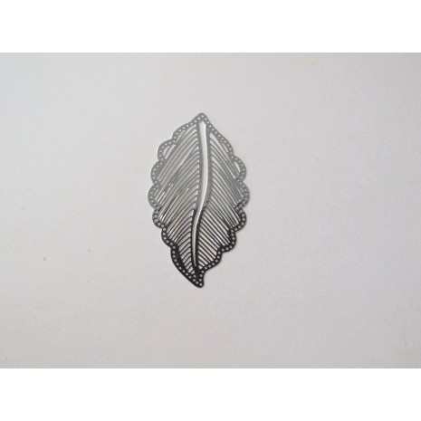 50 Estampes feuilles laser cut 36x21mm