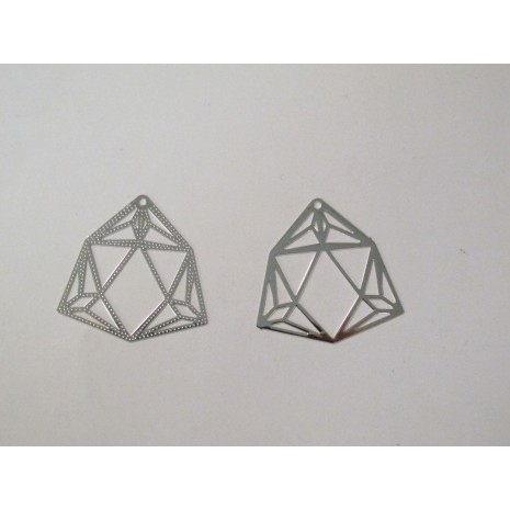 50 Estampes Diamants laser cut 32mm