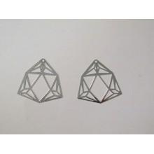 50 Estampes Diamants laser cut 32mm