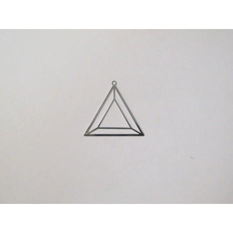 50 Estampe triangle laser cut 29x27mm