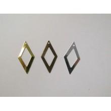 50 Openwork diamond sequin 26x13mm