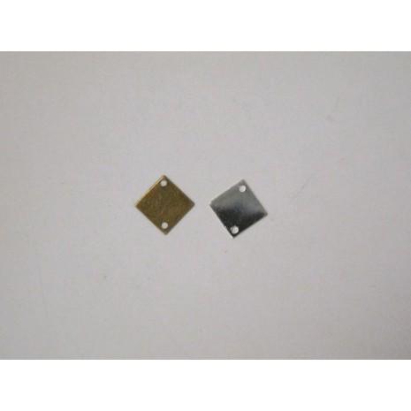 50 Sequins carrés intercalaire 10mm