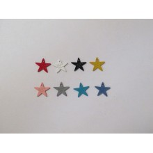 30 Pendentif teinté Etoile 15mm