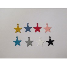 30 Pendentif teinté Etoile 24x20mm