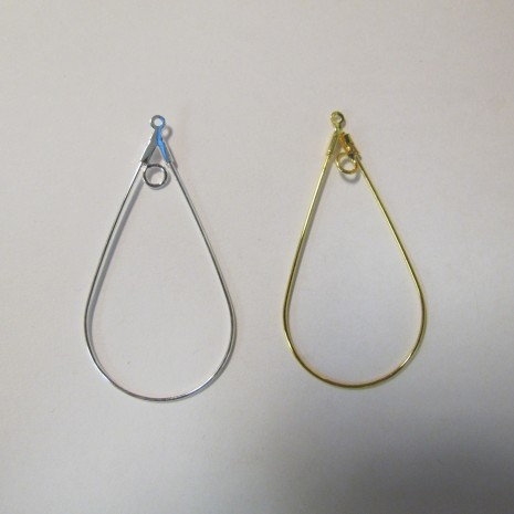 25 pieces Supports boucles d'oreilles gouttes un anneau