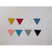 30 Pendentif teinté triangle 22x20mm
