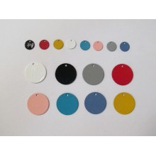30 Tinted Round Sequins 10mm/20mm