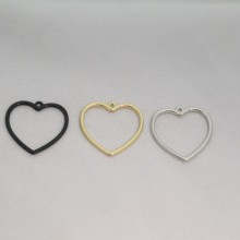 50 Heart charms 26x25mm