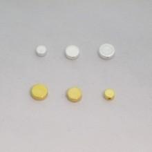 Perles  plat en laiton 4mm/6mm/8mm