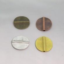 10 Flat Metal Beads 33mm