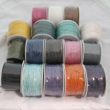 Wax cotton laces 1.0mm/90mts