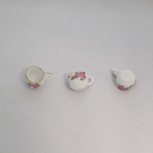 20 Breloques Petites tasses rose Céramique 17x10mm