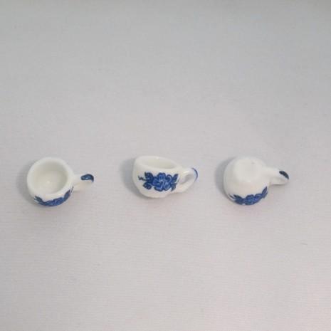 20 Breloques Petites tasses bleu Céramique 20x10mm