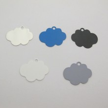 50 Cloud cut stamps 20x17mm