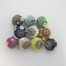 10 Handmade beads 16 mm