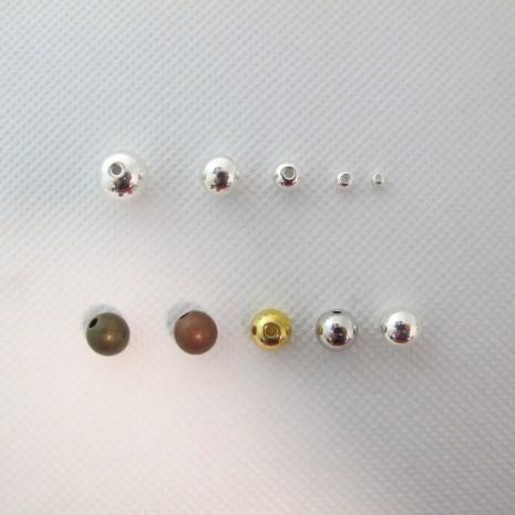 Perles rondes en laiton