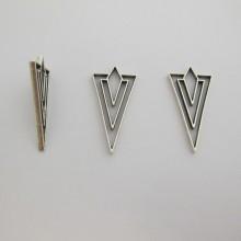 25 Metal Pendant 39x20mm