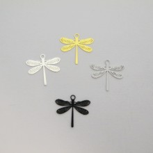 100 Dragonfly laser cut stamps 15x14mm