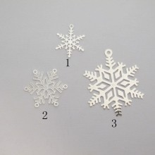 50 Estampe Flocons de neige laser cut 17x14mm/20x20mm/32x27mm
