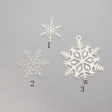 50 Estampe Flocons de neige laser cut 17x14mm/20x20mm/32x27mm