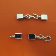20 Flat cord clasp 7x2.5mm