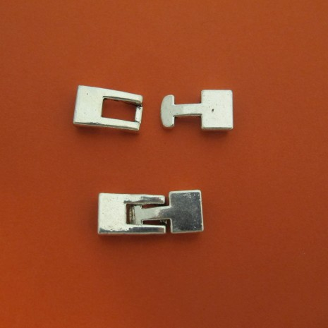 20 Fermoir pour cordons plat 6.5x2.50mm
