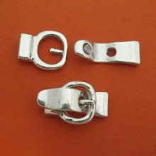 10 Flat cord magnet clasp 10x2mm