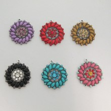 5 Pendant with round strass 26mm